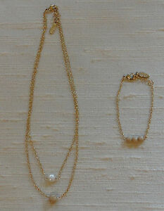 Ettika-Necklace-Fresh-Water-Pearl-Double-Chain-with-Gold-Tone-Bracelet