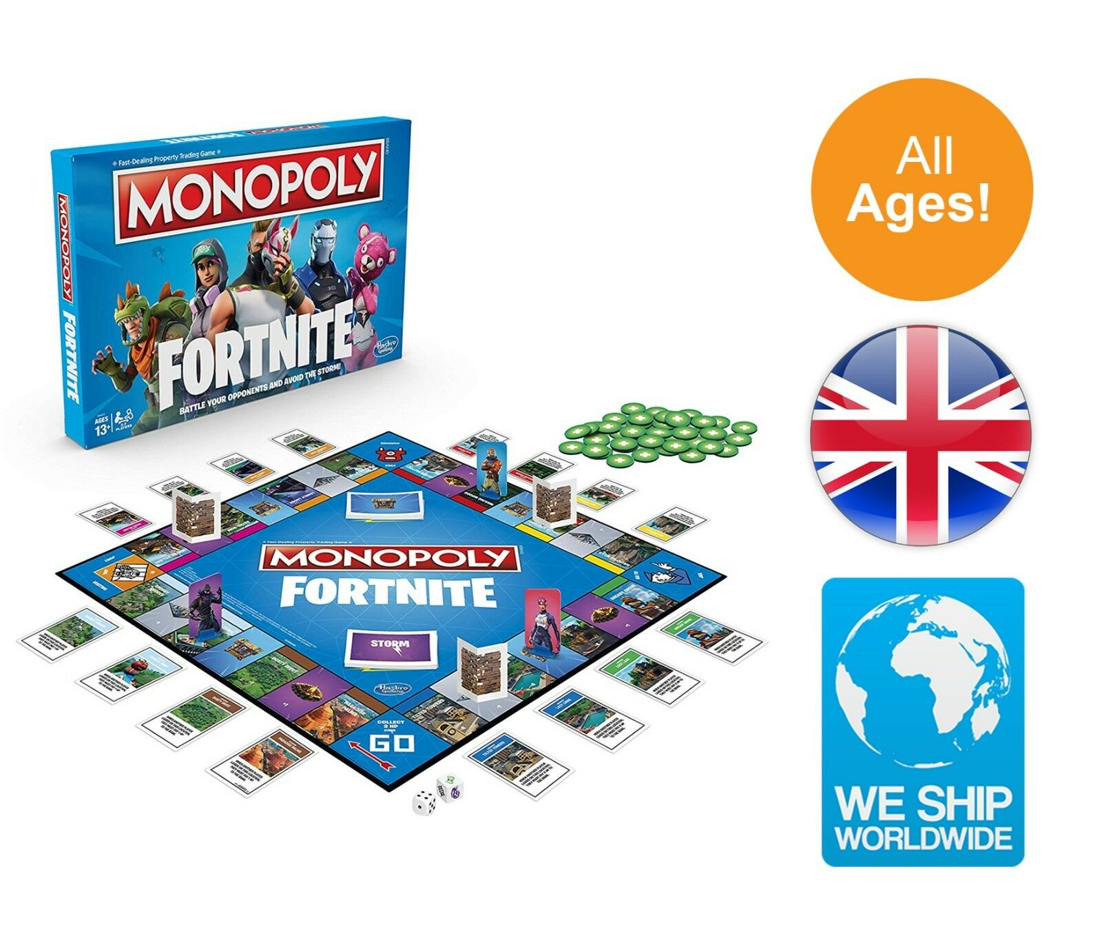 Fortnite Edition Monopoly E6603102 Board Game Multi-Farbe Fortnight Gaming Toy