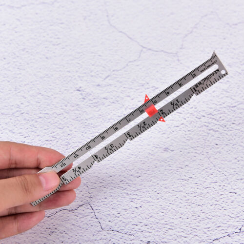 1X 15cm Hemline Sewing Gauge Ruler Cloth Sewing Measure Gauging Tailoring VH