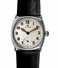 Vintage WWI Trench Officer Military Watch by Cyma Tavannes for Tacy Watch Co