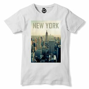New York City T Shirt NYC New York Tshirt Big Apple Cityscape Empire ... 8cc59a1666b