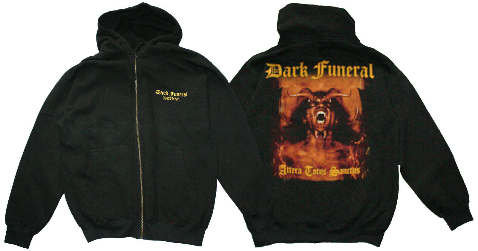 DARK FUNERAL merch official hoodie BLACK DEATH metal rock alt fashion SIZE M/L
