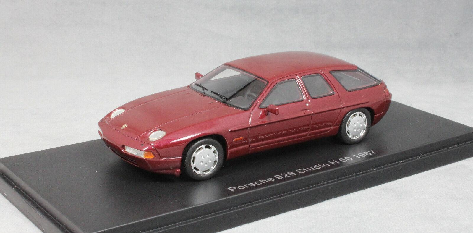 NEO MODELS PORSCHE 928 H50 concept car en Rouge Foncé 1987 47130 1 43 NEUF