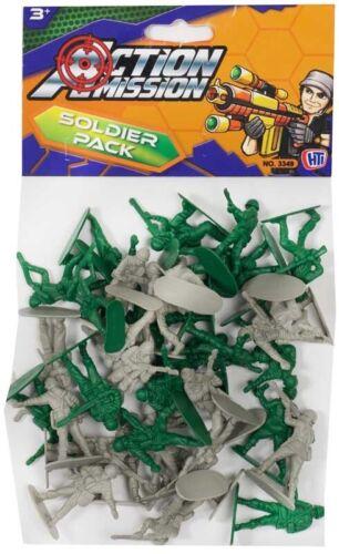 Pacote Jumbo Soldado exército missão de ação de aproximadamente 48 Soldados de Brinquedo Brinquedo Infantil