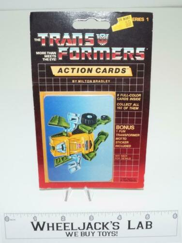 Brawn Sealed Pack Card #23 of Transformers Trading Action Cards 1985 G1