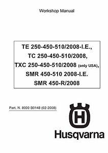 husqvarna tc250 tc450 tc510 complete workshop repair manual 2007 2008