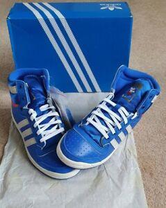 Men's Adidas Originals Top Ten Hi Top Blue Trainers Size UK 5 EG5517 BNIB