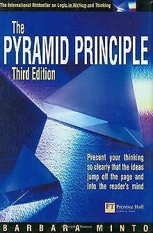The Pyramid Principle: Present Your Thinking So Clearly ...   Buch   Zustand gut