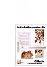 PUBLICITE ADVERTISING  1989   GILETTE  contour plus  lame de rasoir