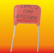 15 pF 350 V 5 % LOT OF 2 LEMCO SEC SILVER-MICA CAPACITORS