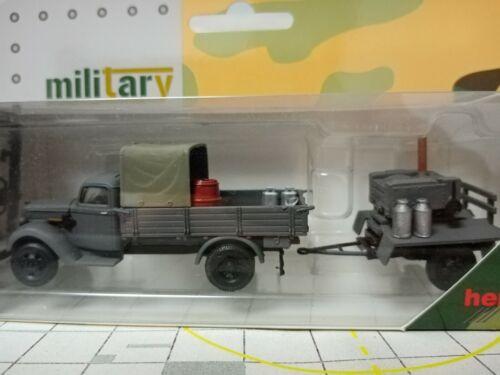 Herpa roco Minitanks 1:87 ford g 917 t tablillas-Camión remolque carga cocina de campo