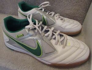 dbdf9618e Nike Gato 5 Five Mens Indoor Soccer Shoes White Green 415122-137 ...