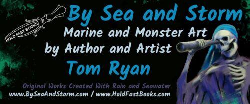 "Signed JAWS Movie Print /""Orca Twilight/"" Great White Shark Sunset Art"