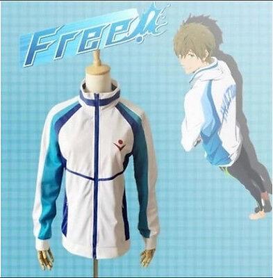 Anime Free! Iwatobi Swim Club Haruka Nanase School Sport Jacket Cosplay Coat New