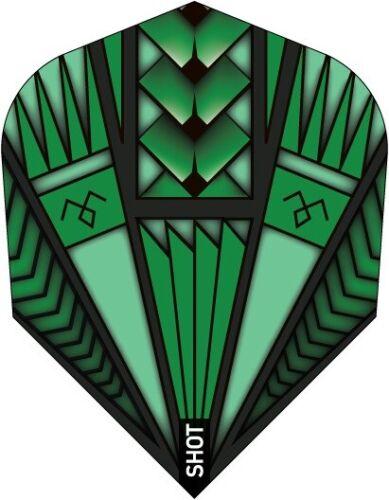 Dart Shot NEU Flights No6 Flyer Stückzahl wählbar Armour Green