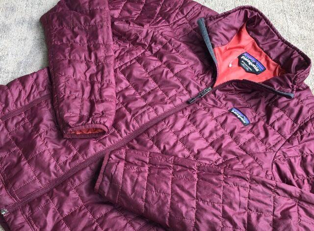 Patagonia Women's Nano Puff Jacket Medium Puffer Oxblood Red Full Zip 84216