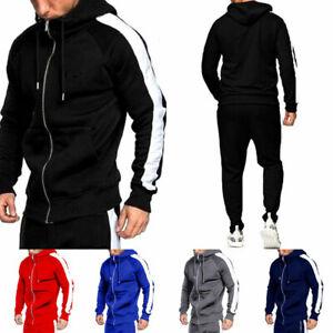 Men/'s Tracksuit Set Gym Hoodie Trousers Joggers Suit Sport Outfit Sweatshirt
