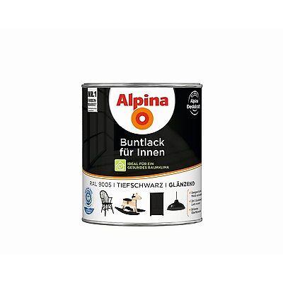 Alpina Buntlack für Innen - Innenbereich Wohnung Lack Alpinaweiß Holz Metall