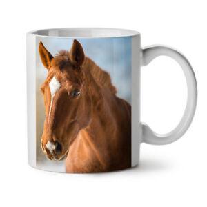 Horse Cute Animal Face NEW White Tea Coffee Mug 11 oz   Wellcoda