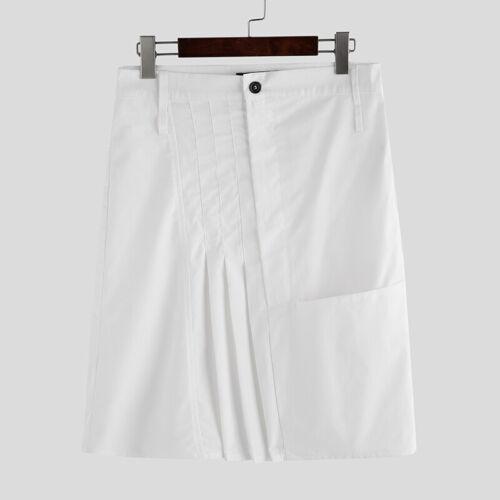 Men/'s Kilt Traditional Highland Dress Solid Plain Scottish Skirt Kilts Costume