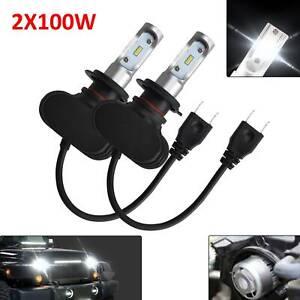 2stk h7 9005 9006 100w 8000lm led scheinwerfer leuchte birnen lampe ebay. Black Bedroom Furniture Sets. Home Design Ideas