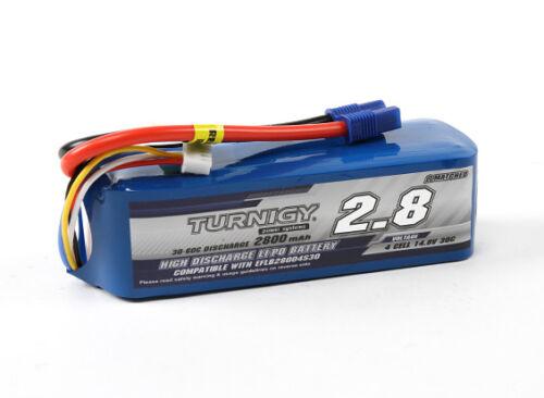 RC Turnigy 2800mAh 4S 30C LiPoly Pack w// EC3