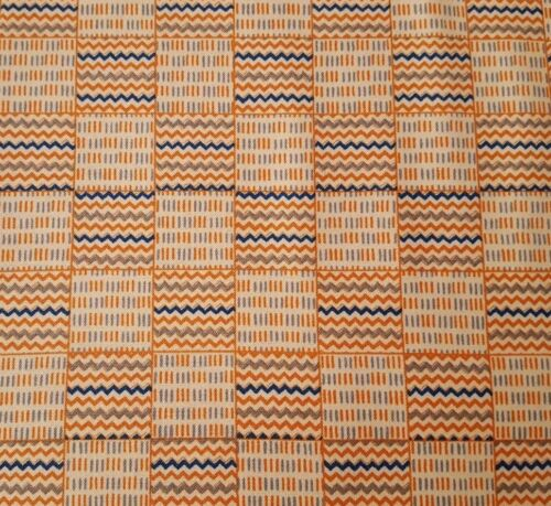 Out of Africa BTY Tina Higgins Quilting Treasures Geometric Patchwork Orange Tan