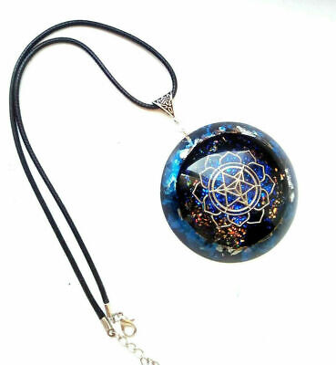 Dolomite and Celadonite Orgone Protector Pendant with Brass Key