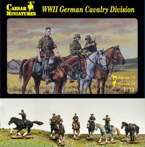 Caesar Miniatures 1//72 Zweiter Weltkrieg Deutsch Kavallerie Division #092
