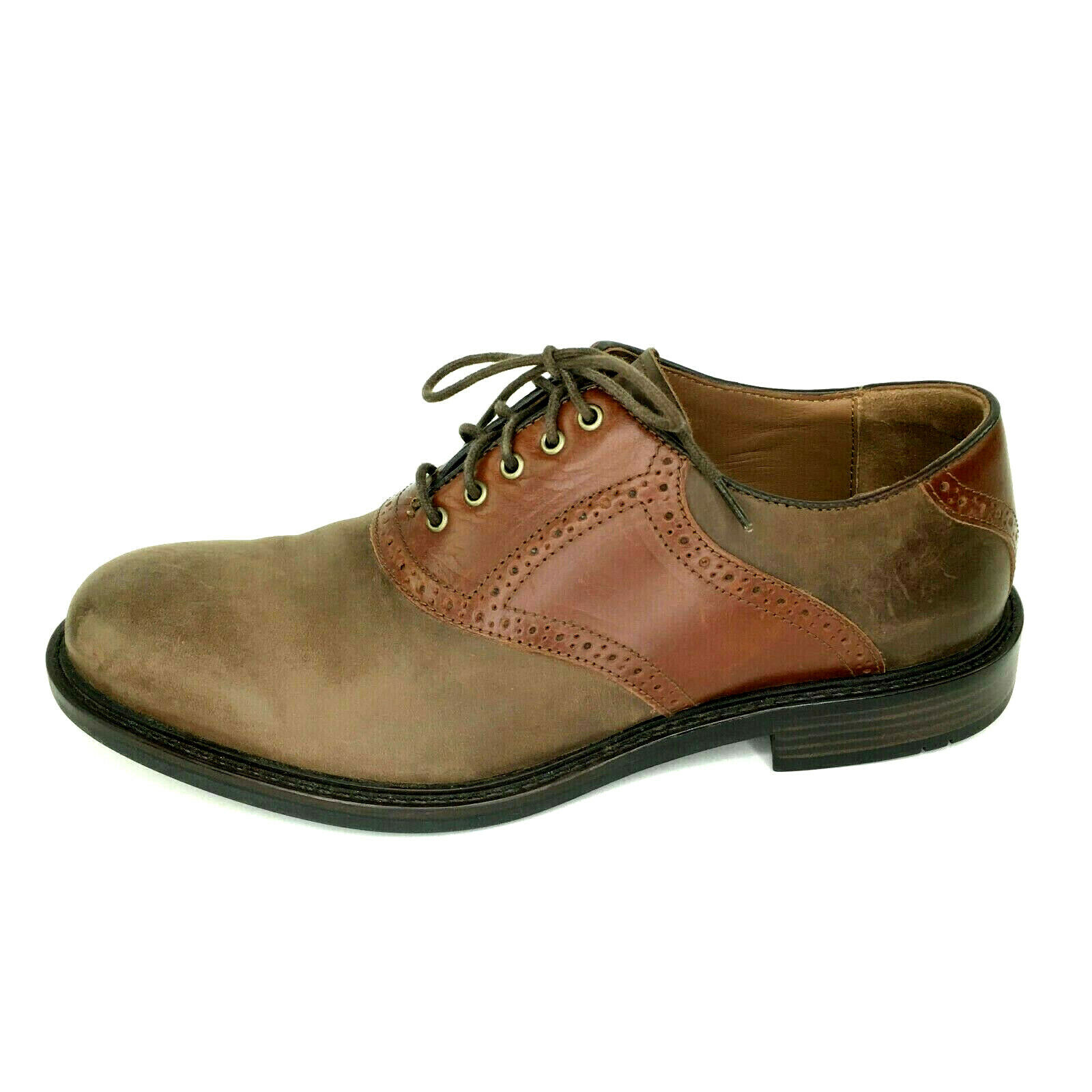 Johnston & Murphy Tabor Saddle Leather Oxfords Mens Size 9.5 Brown 20-2272