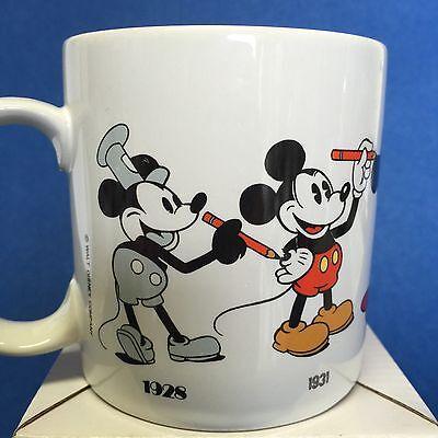 Mickey Mouse Mug Through the Years Coffee Tea Disney 1928-1955 Applause