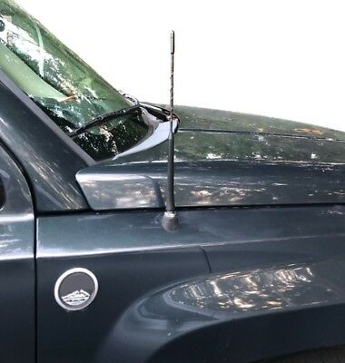 """21/"""" Black Stainless AM FM Antenna Mast FITS 2007-2017 Jeep Compass"""
