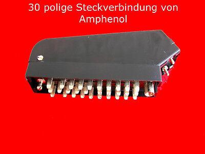 male 30-polig 2 x Tuchel Norm Federleisten-Stecker Stecker im Metallgehäuse