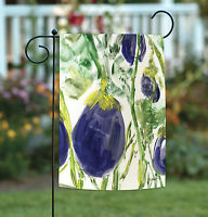 Toland - Watercolor Eggplants - Purple Veggie Vegetable Garden Flag