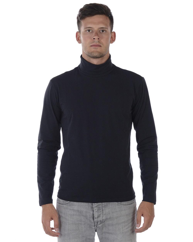 Maglia Maglione Daniele Alessandrini Sweater ITALY men blue M5705E4603705 23