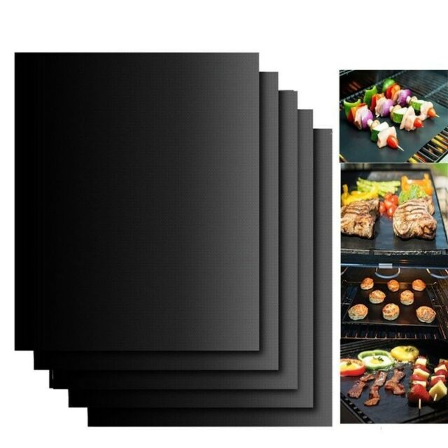 BBQ Silicone Baking Mat Cooking Mat Black Reusable Nonstick Sheet Oven Tray NP2