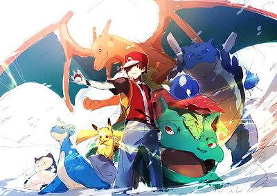 "25 Pikachu - Japanese Anime Pokemon Game 20""x14"" Poster"