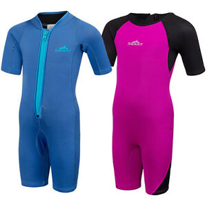 Kids-2mm-Neoprene-Wetsuit-Diving-Suits-Short-Sleeves-Surfing-Swimwear-Swimsuit