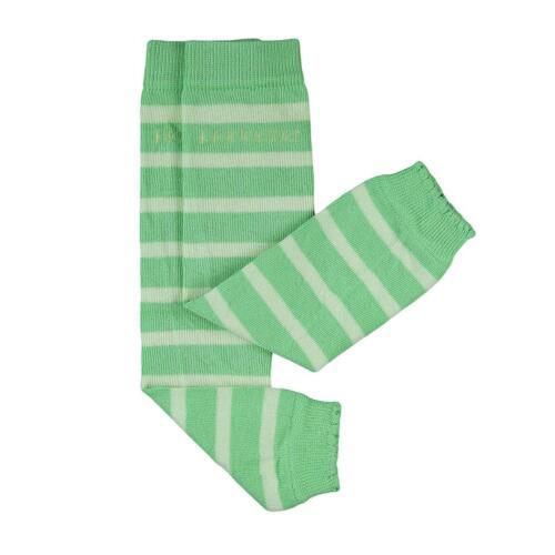 kbA Hoppediz grün mit hellgrünen Streifen Babystulpen von 0-ca.3 Jahre 80/% Bio