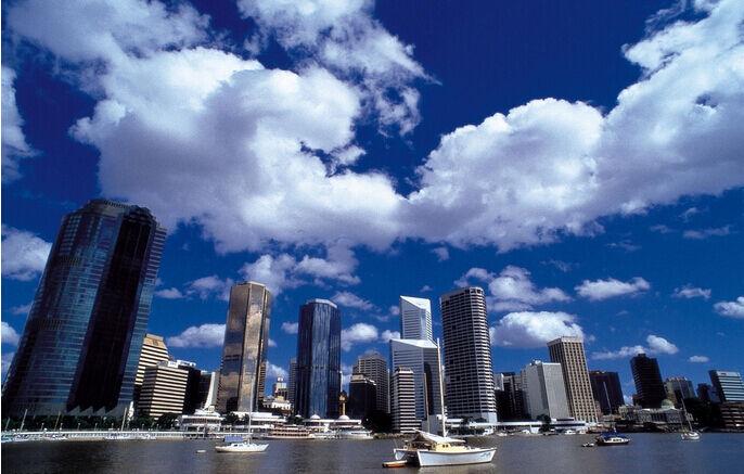 3D Himmel Wolken Gebäude Fototapeten Wandbild Fototapete Bild Tapete Familie