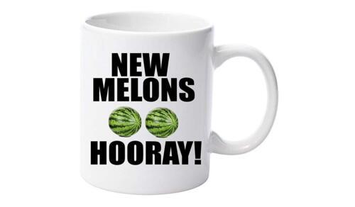 Nouveau melons hourra 11 Oz Mug Céramique Cadeau Noël Anniversaire Noël Fête Des Pères environ 311.84 g