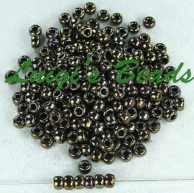 6/0 Round Toho Japanese E Glass Seed Beads #83-Metallic Iris Brown 15 grams