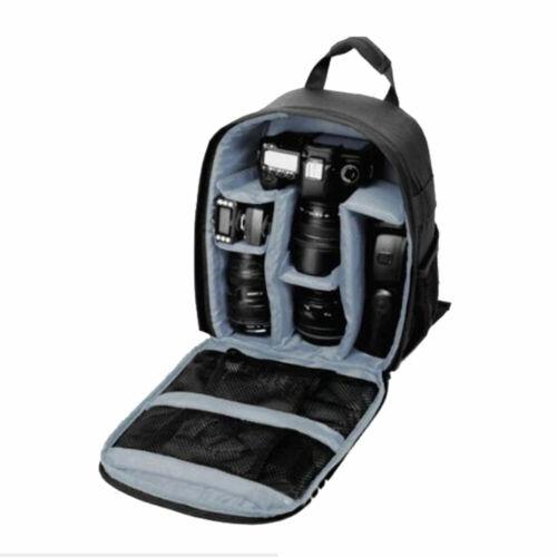 Zainetto zaino nylon porta DLSR fotocamera accessori obiettivo per Nikon Canon