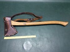 Vintage Collins Hudson Bay Pattern Axe Hatchet Original with Leather Sheath