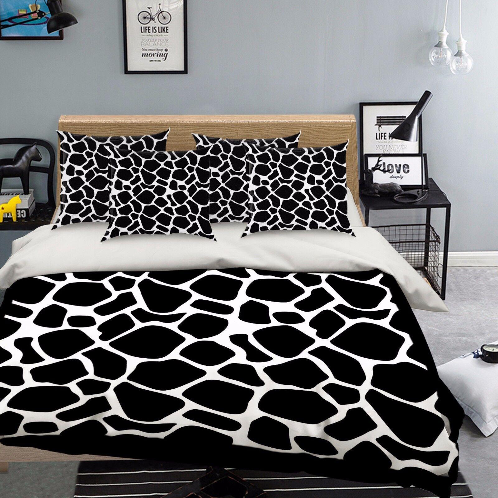 3D Streaks 907 Bed Pillowcases Quilt Duvet Cover Set Single Queen UK Summer