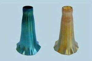 Image Is Loading Arts Amp Crafts 3 RUFFLED LILIES Art Glass