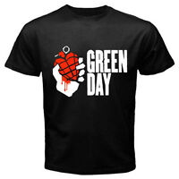 "New GREEN DAY ""American Idiot"" Punk Rock Band Mens Black T-Shirt Size S to 3XL"