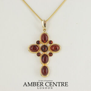 Italian made classic baltic amber cross pendant in 14ct gold image is loading italian made classic baltic amber cross pendant in mozeypictures Gallery