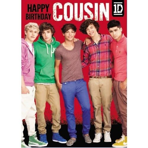 Official One Direction Birthday Card with w//o Sound Message for Relative Friend