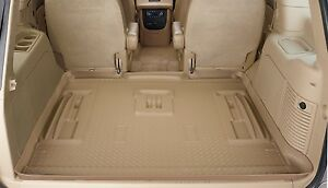 Husky-Liners-Classic-Style-Cargo-Mat-21403-Cadi-Escalade-Chevy-Tahoe-Tan